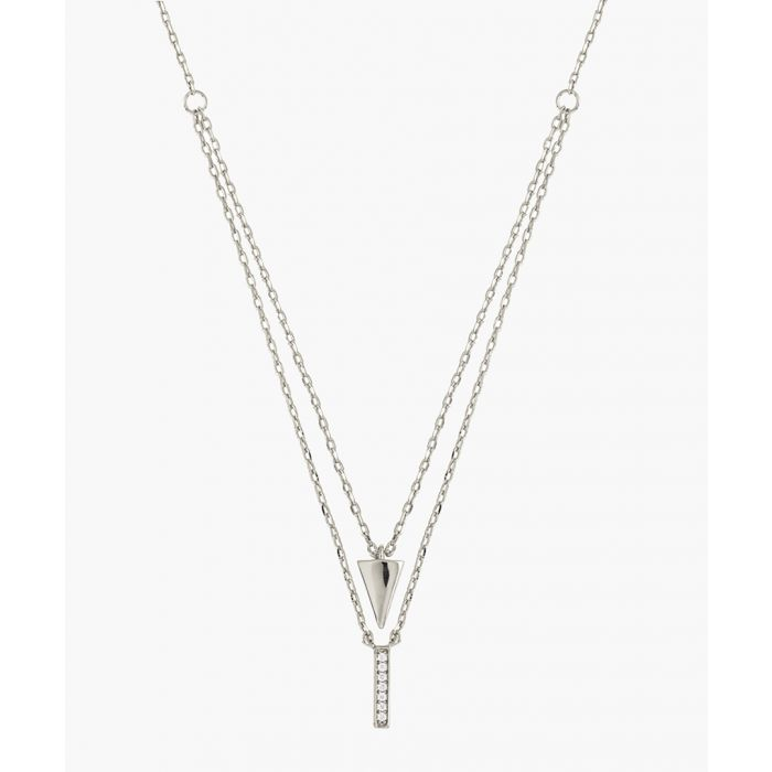 Image for Lupine 18k white gold-plated cubic necklace
