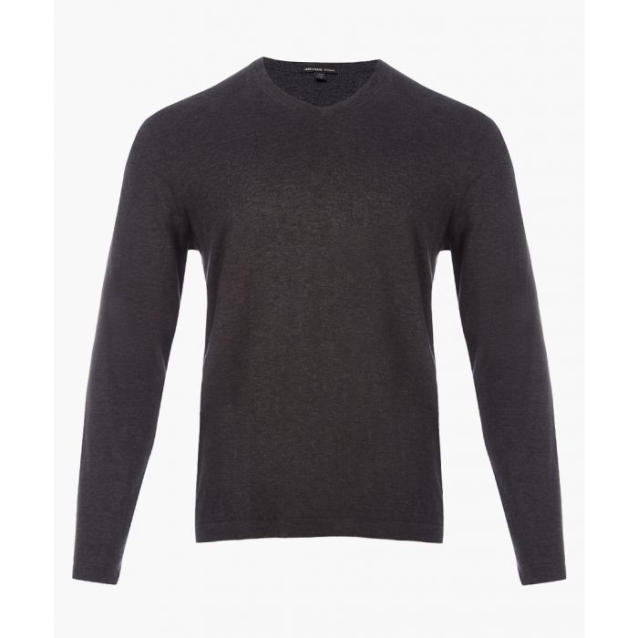 Image for Heather charcoal pure cotton jumper