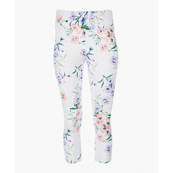 Image for White floral printed leggings