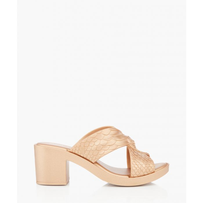Image for gold-tone scale mules