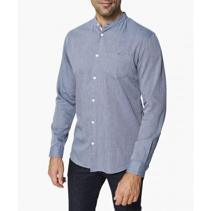 Image for Dark sapphire button-up shirt