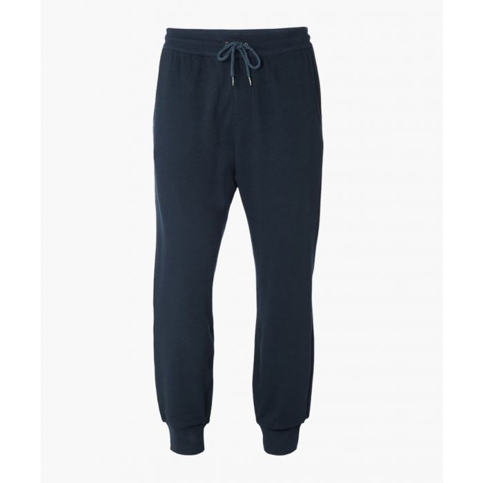 Image for Ink blue cotton blend joggers