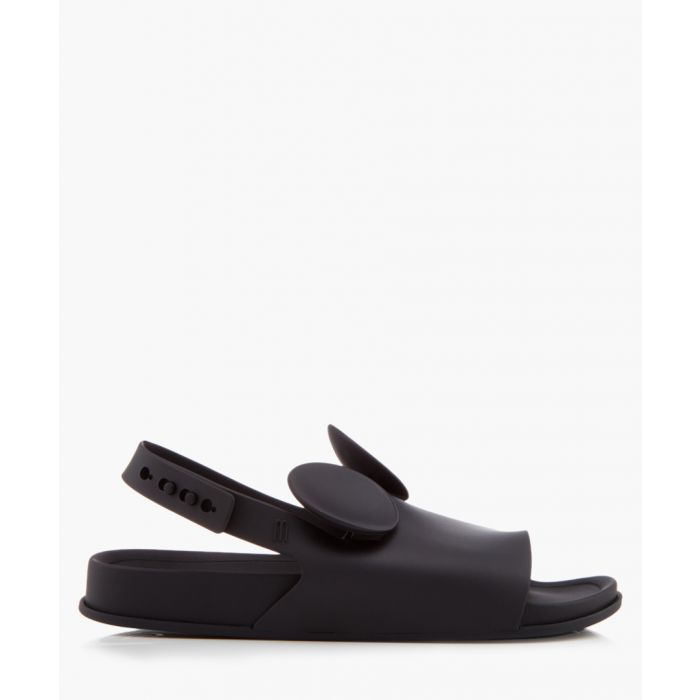 Image for Black peeptoe ears sandals