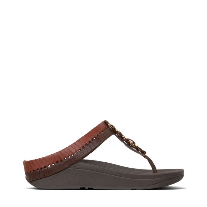 Image for Cirque cognac & light tan sandals