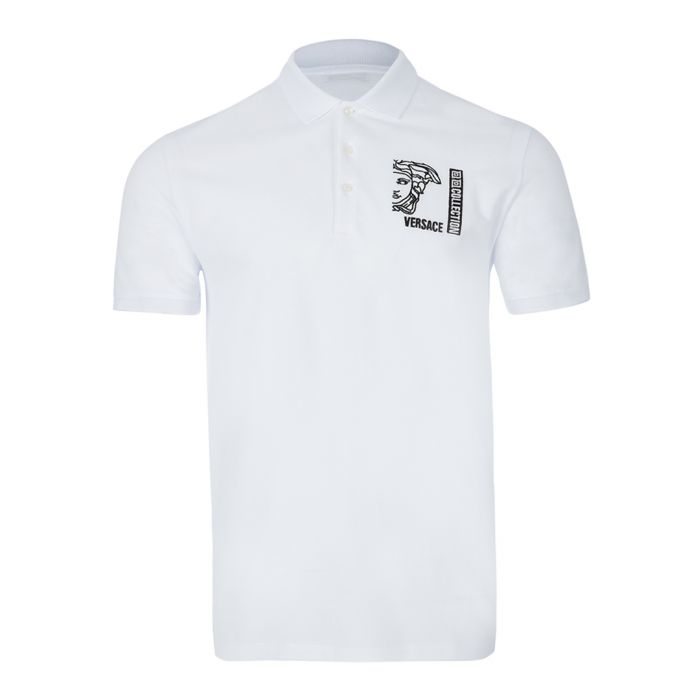 Image for Optical white graphic polo shirt