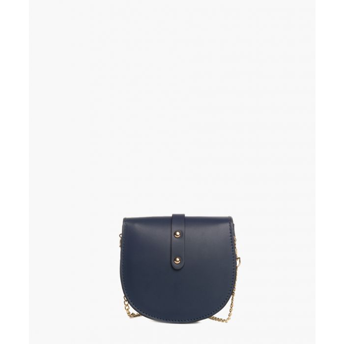Image for Fiora blue leather cross body