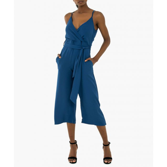 Image for Holiday jumpsuit in royal blue