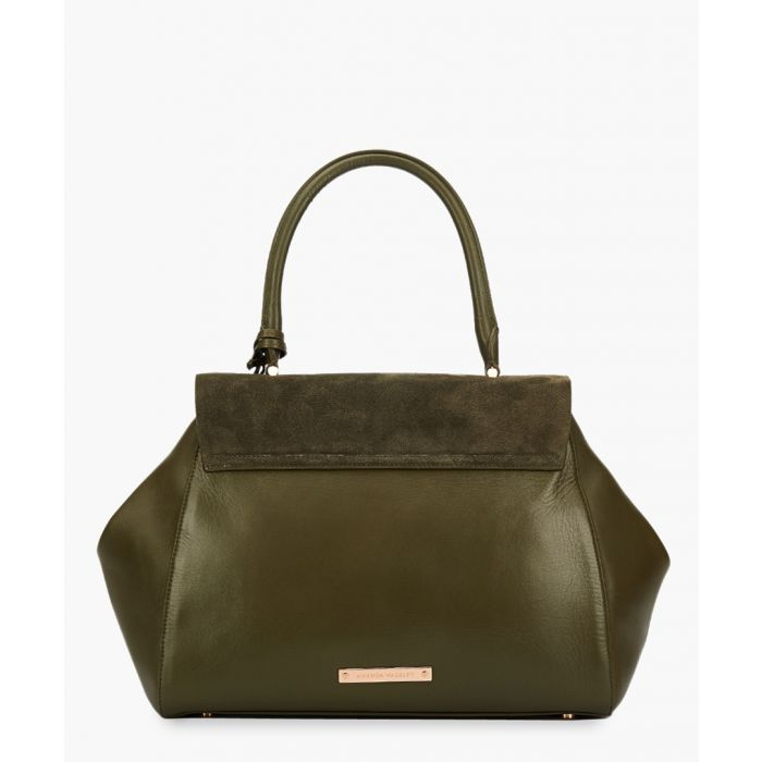 Image for Cagney khaki leather shoulder bag