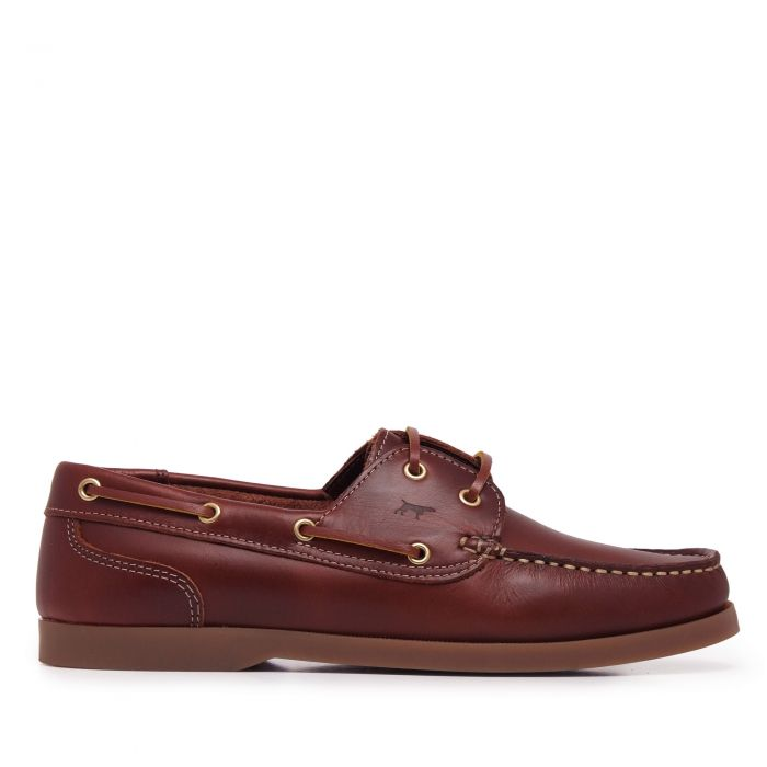Image for Brown leather boat shoes