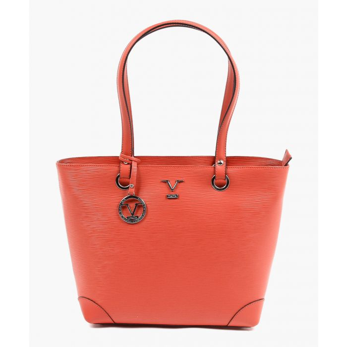 Image for Coral leather shoulder bag