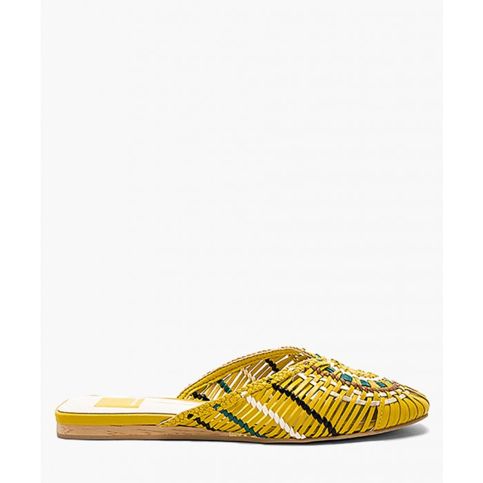 Image for Baez yellow pattern mules