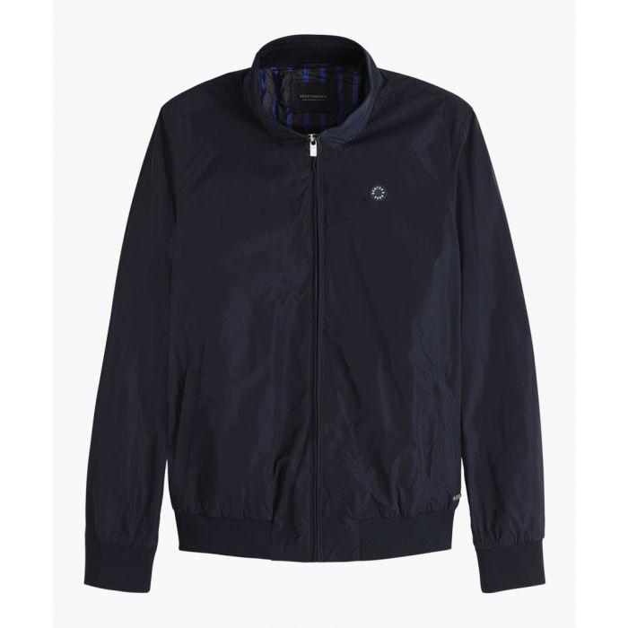 Image for Blauw Harrington navy jacket