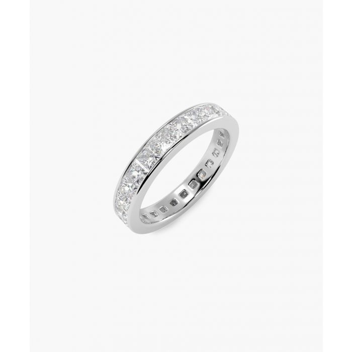 Image for Platinum and 2.00ct princess-cut diamond full eternity ring