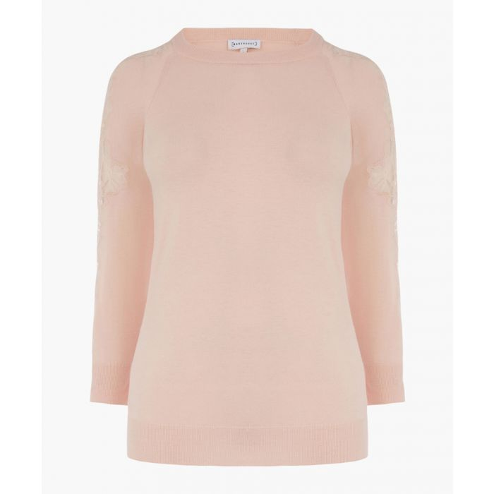 Image for Light pink lace insert jumper