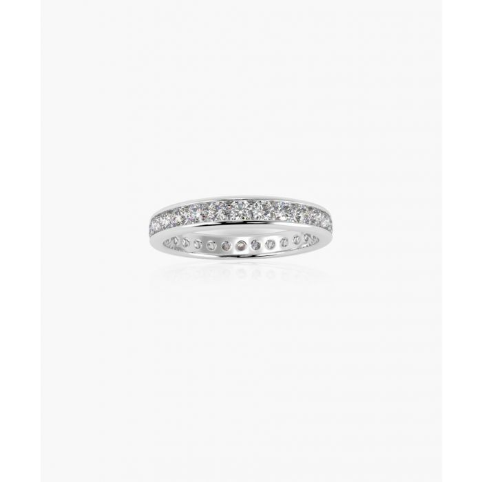 Image for 18k white gold and 1.00ct diamond eternity ring