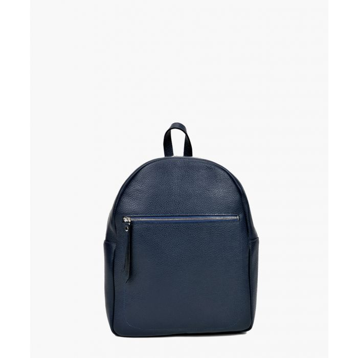 Image for Navy leather backpack