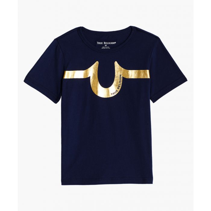 Image for Boys navy blue cotton T-shirt