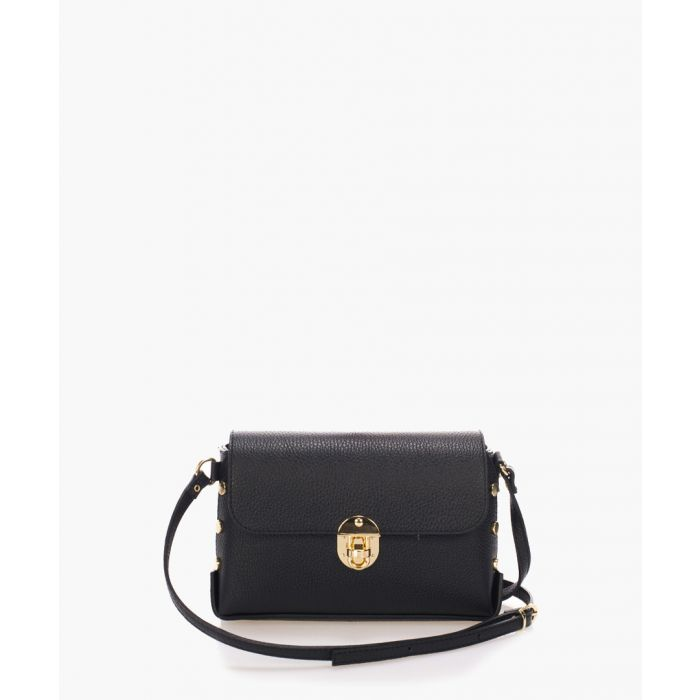 Image for Siena black leather cross body