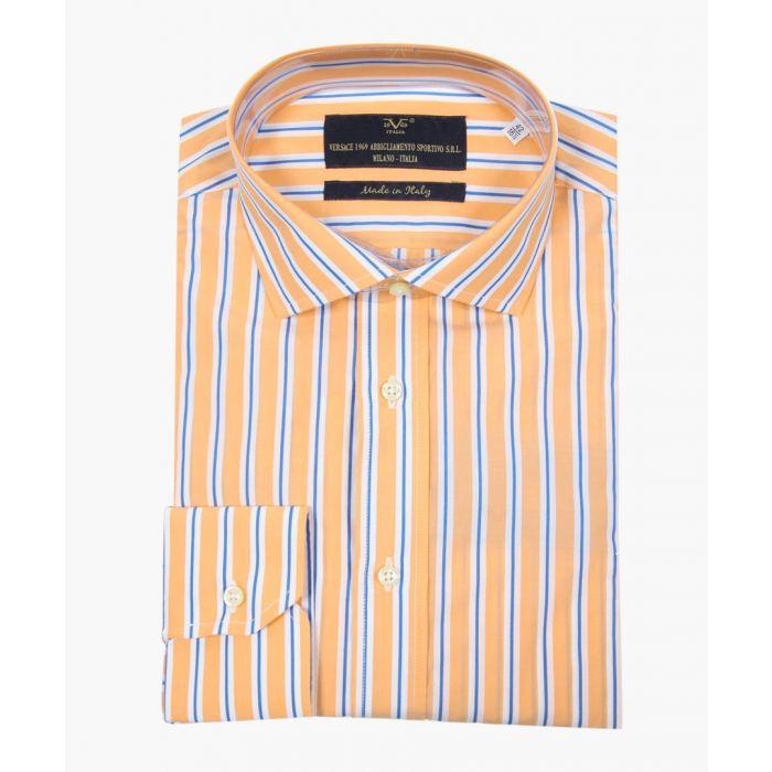 Image for Multi-coloured pure cotton classic collar shirt