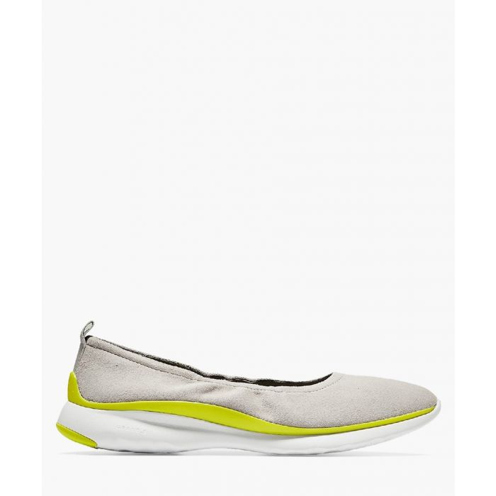 Image for Womens dove and neon slip-on shoes