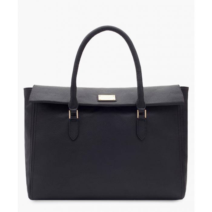 Image for Pralamb black leather shopper