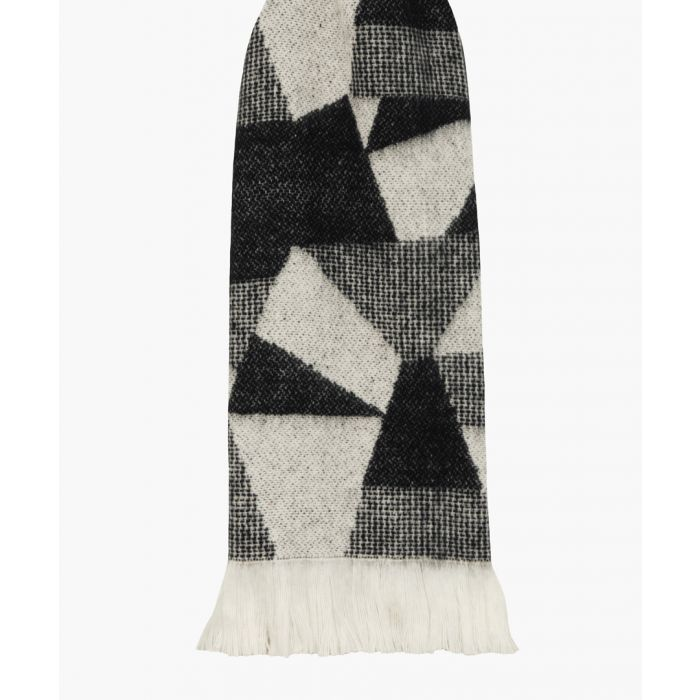Image for Shard black patterned throw