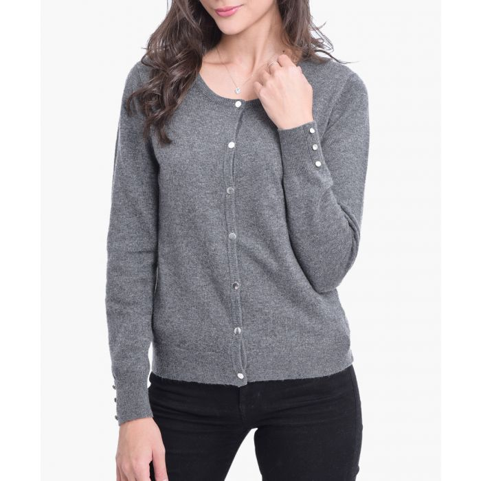 Image for Grey cashmere blend cardigan