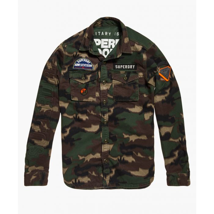 Image for Military Storm multi-coloured pure cotton shirt