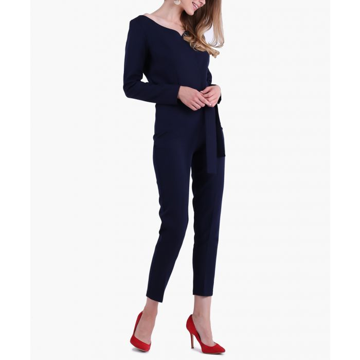 Image for Navy woven jumpsuit