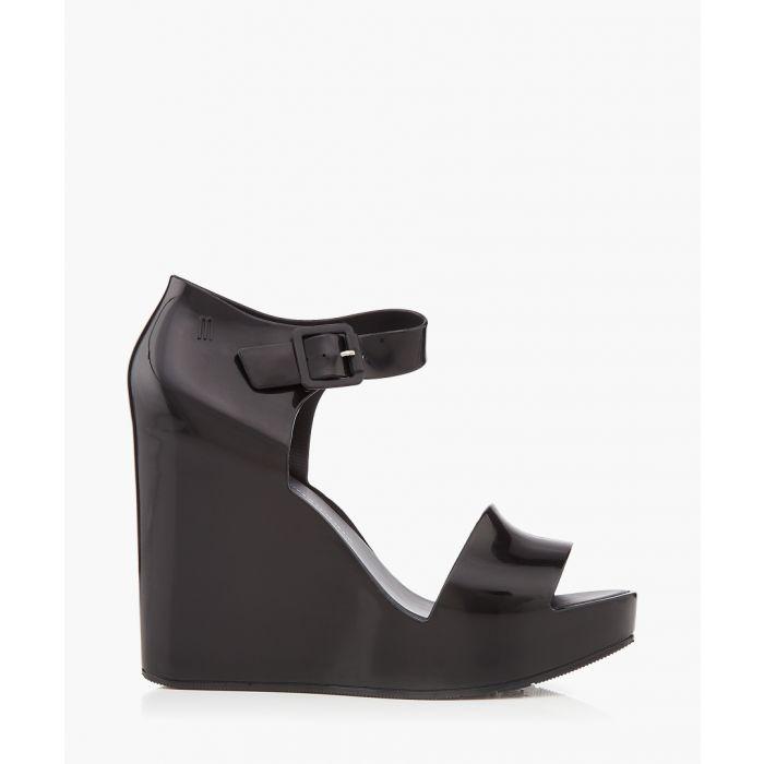 Image for Mar Black Wedge Sandals