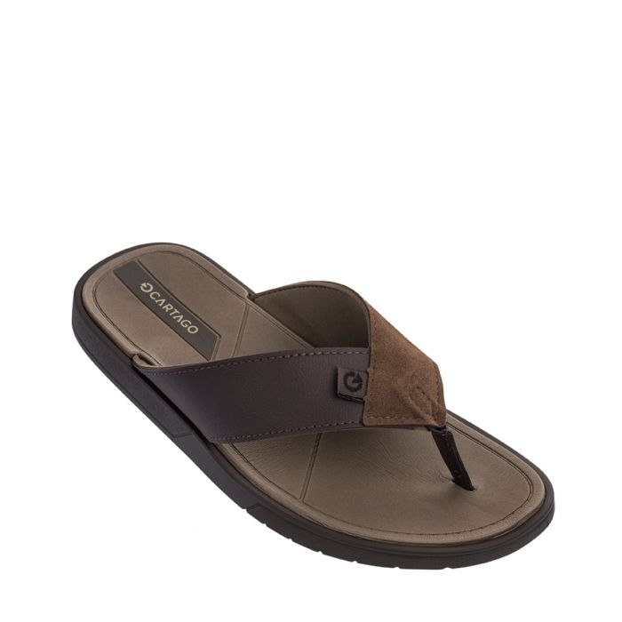 Image for Valencia brown flip-flops