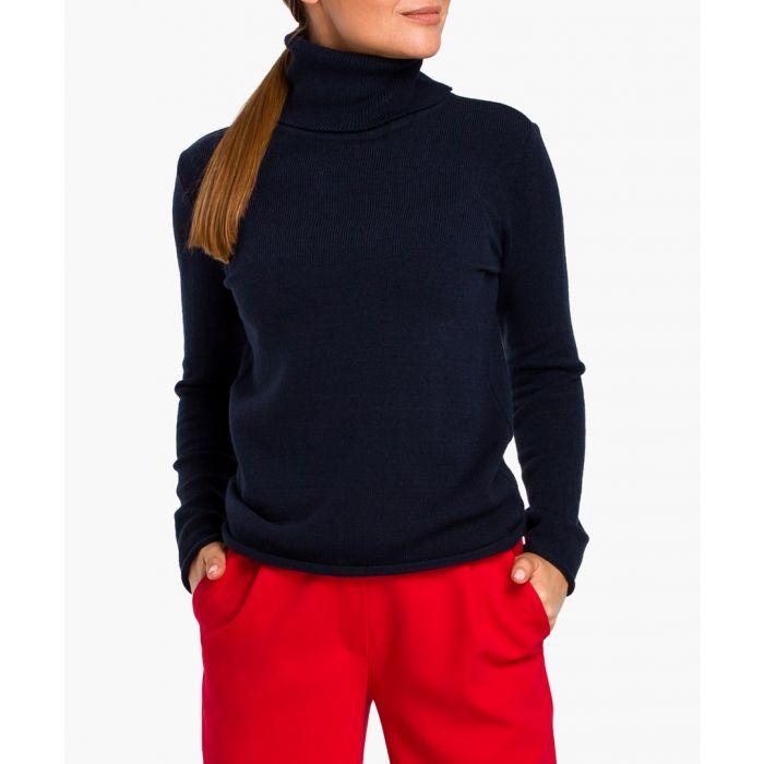 Image for Stylove navy blue turtleneck jumper