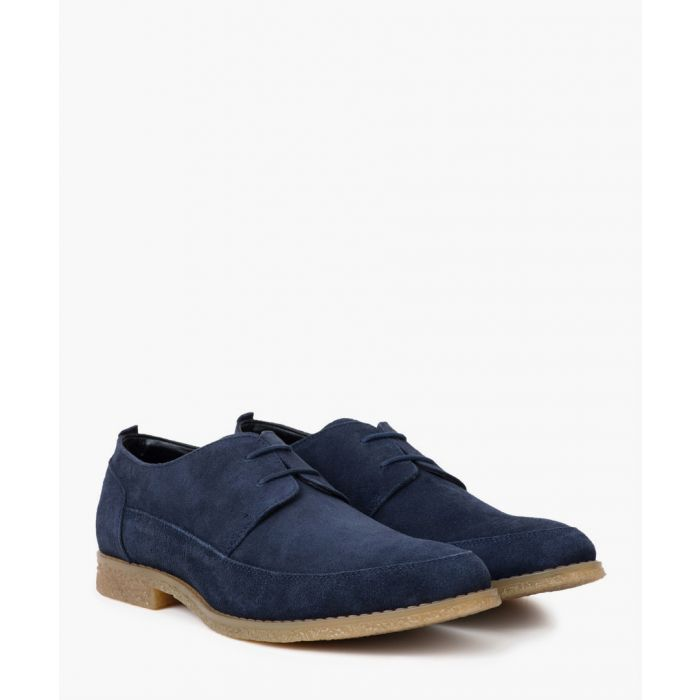 Image for Navy apron leather Desert shoes