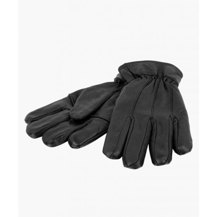 Image for Black Leather Elasticated Driving Glove Gloves