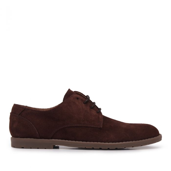 Image for Mens brown leather lace-up blucher shoes