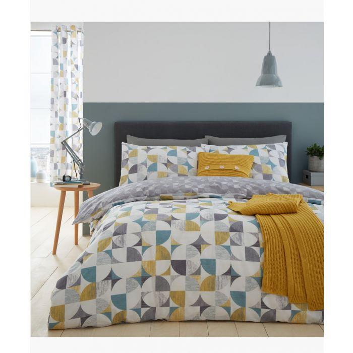 Image for Retro circles multi-coloured cotton blend single duvet set