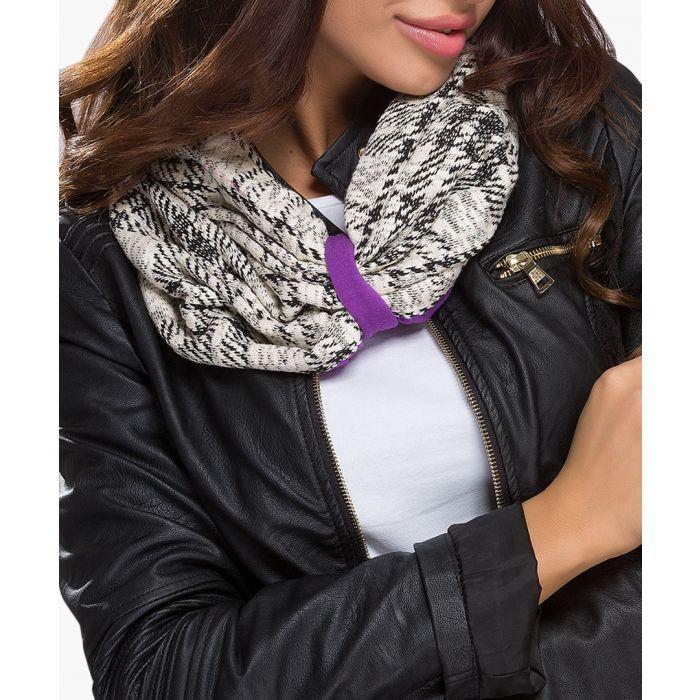 Image for Violet cotton blend scarf