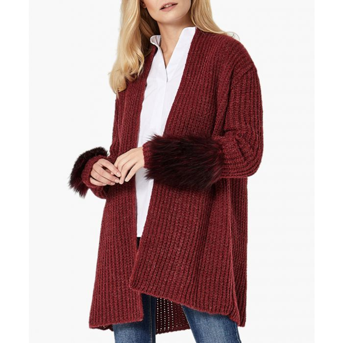 Image for Deep red loose cut cardigan