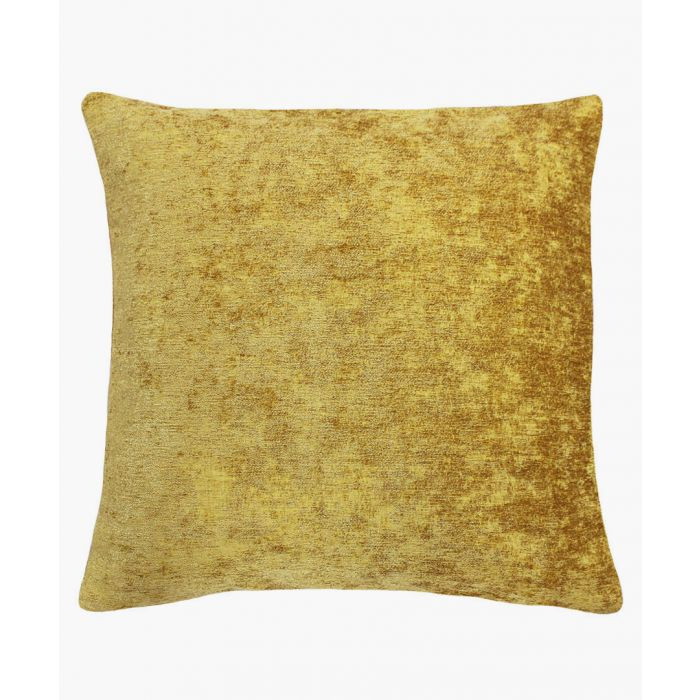 Image for Hampton yellow textured cushion
