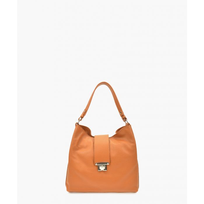 Image for Brown leather top handle bag