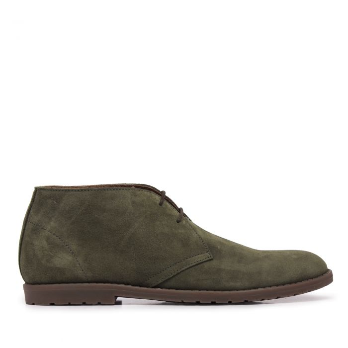 Image for Mens green leather lace-up casual boots