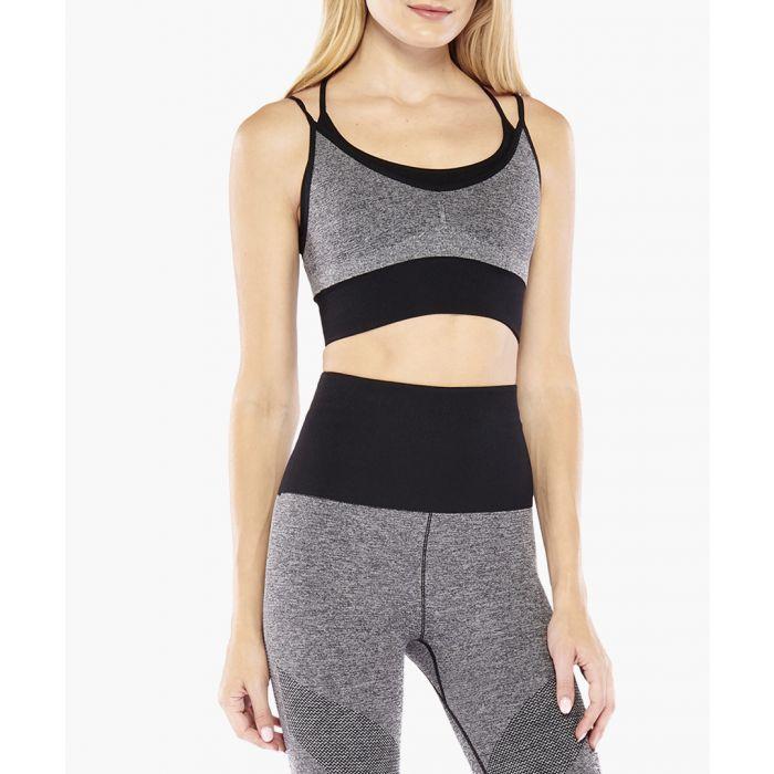 Image for High impact heather grey bra