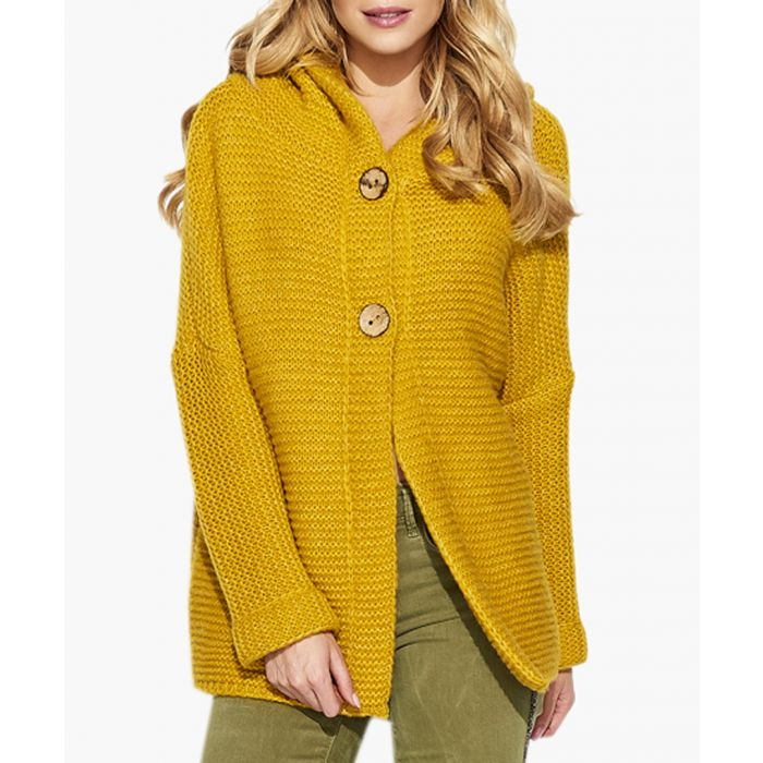 Image for Mustard Mohair & Wool Blend Knitted Sweater