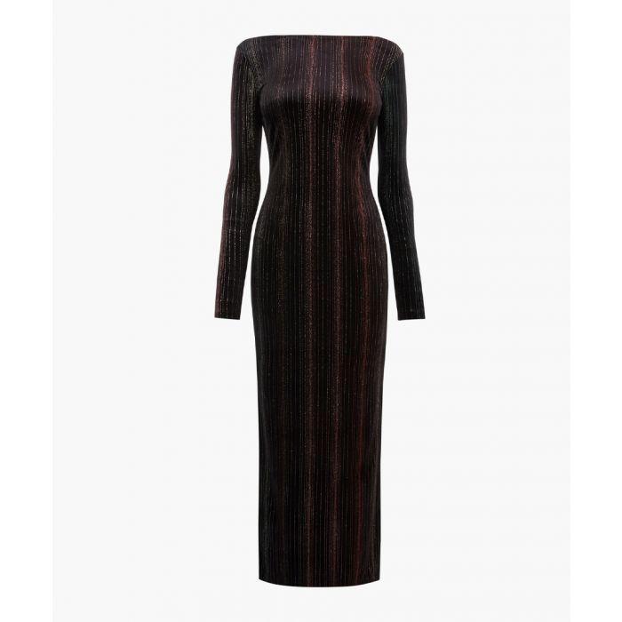 Image for Black velvet maxi dress