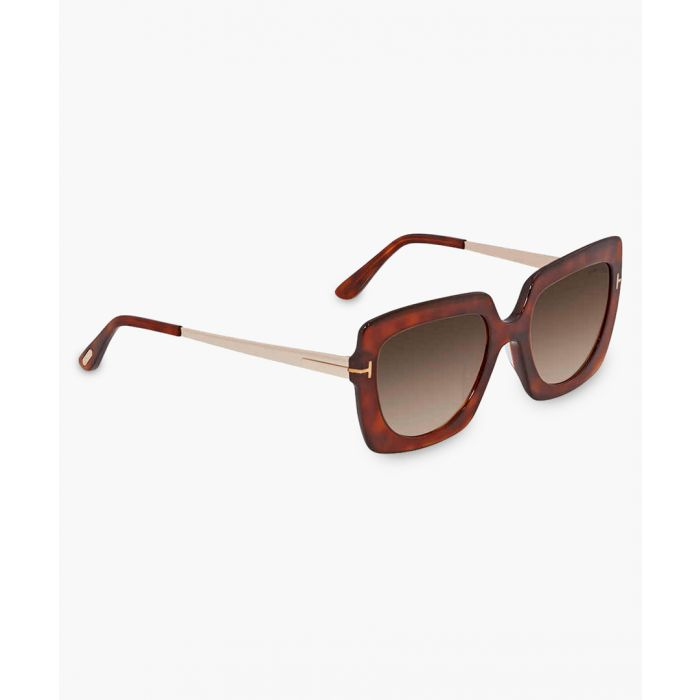Image for Brown and beige sunglasses