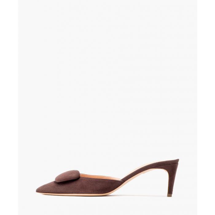 Image for Elsa Point truffle brown mules