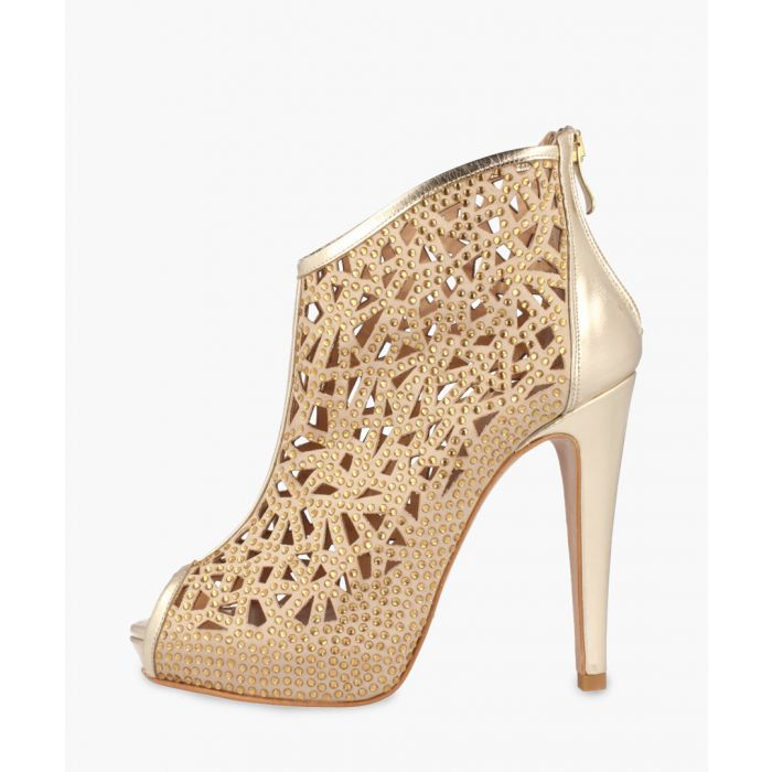 Image for Gold-tone leather heels