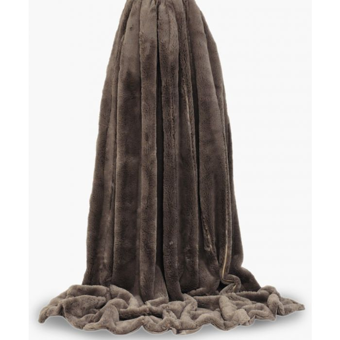 Image for Taupe empress throw 130x180cm