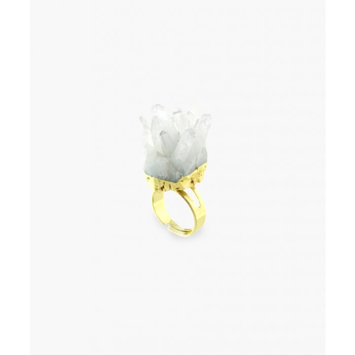 Image for 14k gold-plated and quartz ring