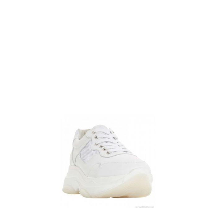 Image for Escape white leather sneakers